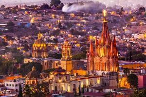 San Miguel de Allende, Mexico, Miramar, Overlook, Parroquia Archangel Church by William Perry