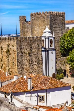 Sao Pedro Church in Medieval Town, Obidos, Portugal. by William Perry