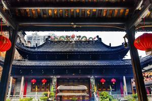 Tianwang Hall Gate at Temple of Six Banyan Tree. Guangzhou City, Guangdong Province, China by William Perry