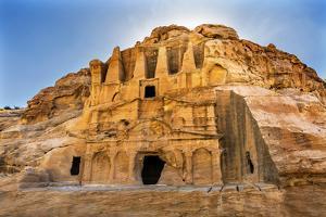 Yellow Obelisk Tomb, Bab el-siq Triclinium, Entrance Into Petra, Jordan by William Perry