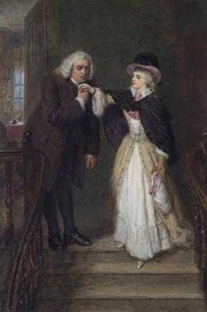 Dr. Johnson and Mrs Siddons in Bolt Court