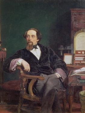 Portrait of Charles Dickens by William Powell Frith