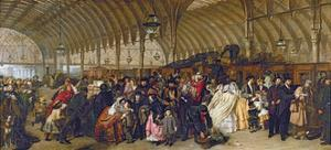 The Railway Station, 1862 by William Powell Frith
