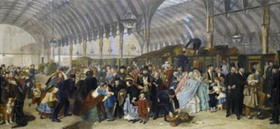 The Railway Station, 1866