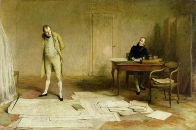 St. Helena 1816: Napoleon Dictating to Count Las Cases the Account of His Campaigns