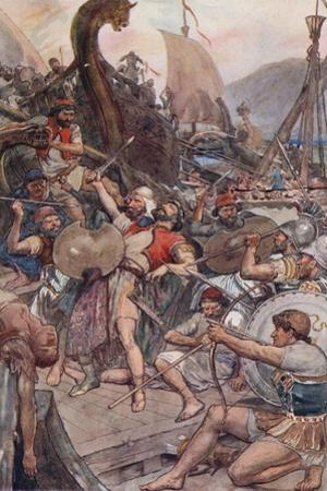 Death of the Persian Admiral at Salamis