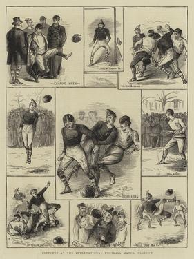 Sketches at the International Football Match, Glasgow by William Ralston