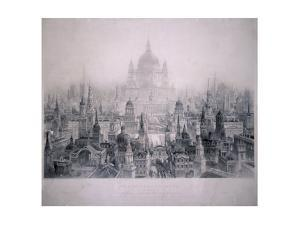 Dream City of Christopher Wren's Buildings, 1842 by William Richardson