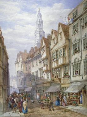 Old Houses in Wych Street, Westminster, London, 1873 by William Richardson