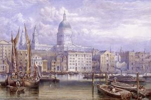 St Paul's from Bankside, London, 1883 by William Richardson