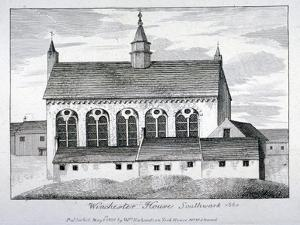 The Bishop of Winchester's Palace, Winchester House, Southwark, London, 1801 by William Richardson