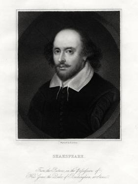 William Shakespeare, English Playwright, 19th Century by E Scriven