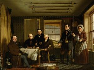 Discussing a Catch of Salmon in a Scottish Fishing-Lodge, C.1840 by William Shiels