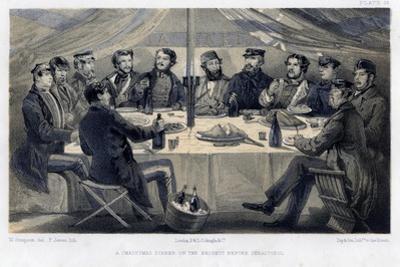 A Christmas Dinner on the Hights before Sebastopol, C1850