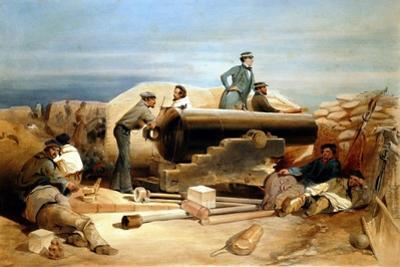 A Quiet Day in the Diamond Battery - Portrait of a Lancaster 68-Pounder, Crimean War 1855-1856