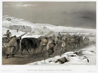 British Troops on the Road to Sevastopol, 1855