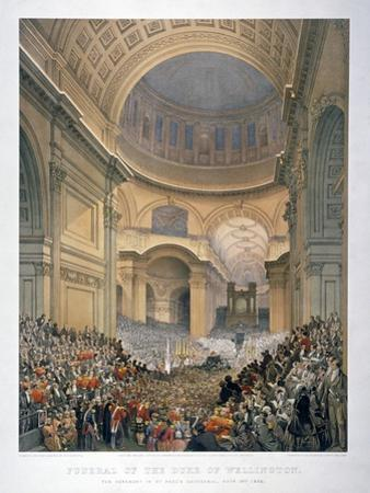 Interior of St Paul's Cathedral During the Funeral of the Duke of Wellington, London, 1852