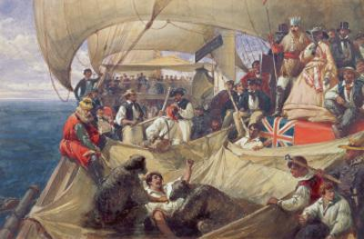 Neptune on Board the 'Newcastle' Crossing the Line, 1859