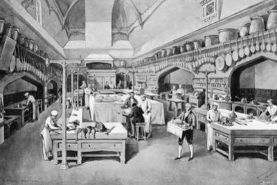 Windsor Castle Kitchen at Christmas, 1894