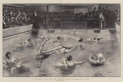 A Water Polo Match at a London Swimming Club