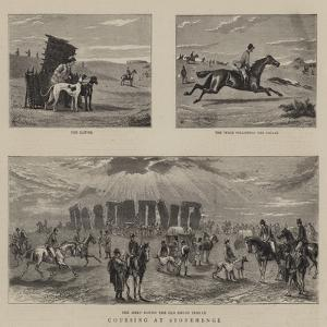 Coursing at Stonehenge by William Small