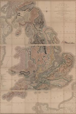 Delineation of the Strata of England and Wales with a Part of Scotland (The First Geological Map Of