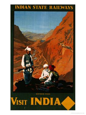 Visit India, Indian State Railways, circa 1930 by William Spencer Bagdatopoulus