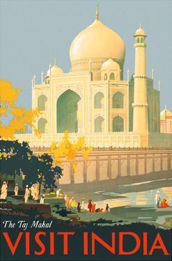 Visit India - Taj Mahal - Agra, India by William Spencer Bagdatopulos