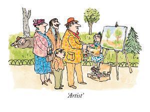 Artist' - New Yorker Cartoon by William Steig