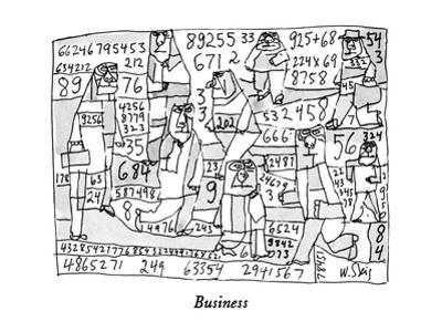 """""""Business"""" - New Yorker Cartoon by William Steig"""
