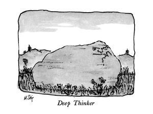 Deep Thinker - New Yorker Cartoon by William Steig