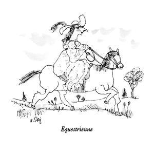 Equestrienne - New Yorker Cartoon by William Steig