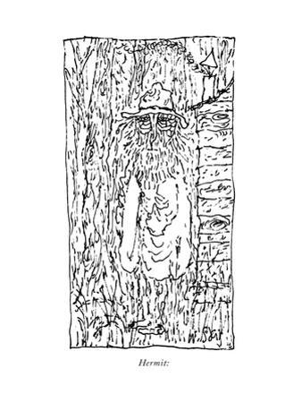 Hermit: - New Yorker Cartoon by William Steig