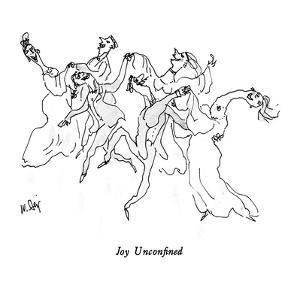 """""""Joy Unconfined."""" - New Yorker Cartoon by William Steig"""