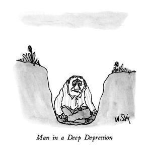 Man in a Deep Depression - New Yorker Cartoon by William Steig
