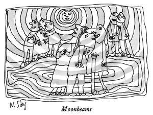 Moonbeams - New Yorker Cartoon by William Steig