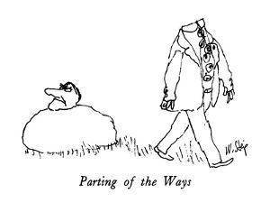 Parting of the Ways - New Yorker Cartoon by William Steig