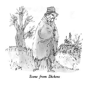 Scene from Dickens - New Yorker Cartoon by William Steig