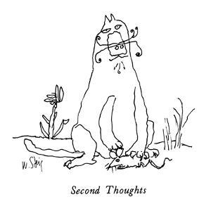 Second Thoughts: - New Yorker Cartoon by William Steig