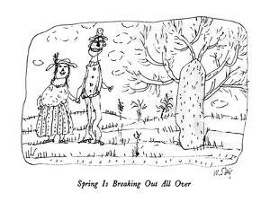 Spring Is Breaking Out All Over - New Yorker Cartoon by William Steig