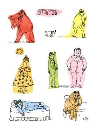 States - New Yorker Cartoon by William Steig