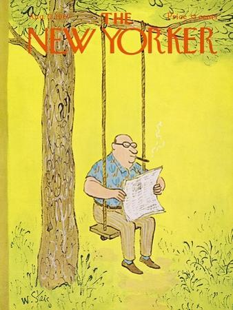 The New Yorker Cover - August 12, 1967 by William Steig