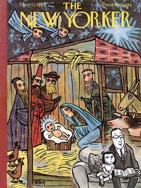 The New Yorker Cover - December 22, 1962 by William Steig