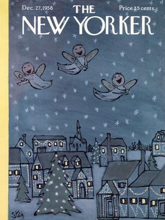 The New Yorker Cover - December 27, 1958 by William Steig
