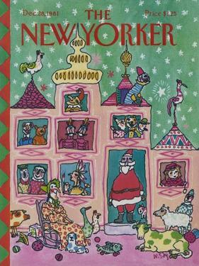 The New Yorker Cover - December 28, 1981 by William Steig