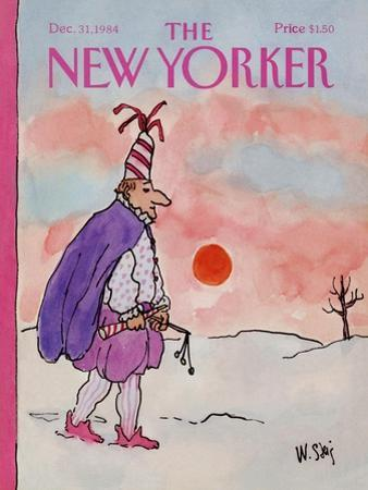 The New Yorker Cover - December 31, 1984 by William Steig