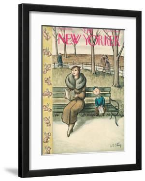 The New Yorker Cover - February 15, 1936 by William Steig