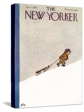 The New Yorker Cover - January 7, 1956 by William Steig
