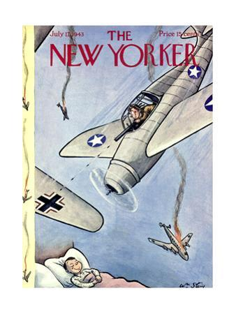 The New Yorker Cover - July 17, 1943 by William Steig