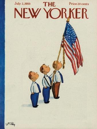 The New Yorker Cover - July 2, 1955 by William Steig